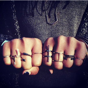 Photo of multiple Selin Kent rings