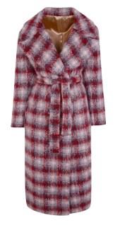 TOPSHOP plaid coat