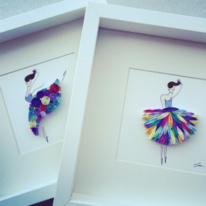 Frame of dancer made of paper