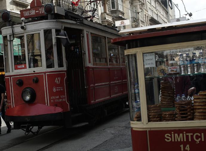 Tramway on Istiklal Caddesi