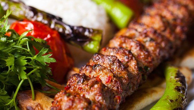 Adana Ocakbaşı's delicious meat kebab