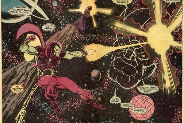 CIBASS Escena clásica de Drax el destructor combatiendo a Thanos
