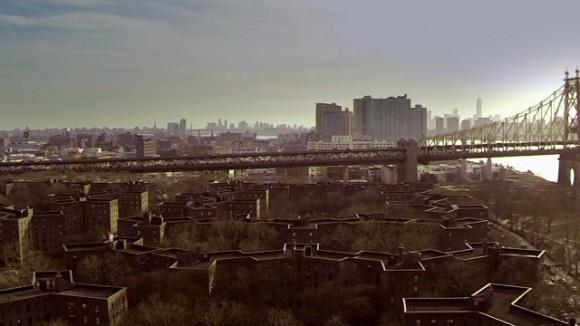 Plano aereo de los edificios de Queens
