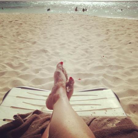 CIBASS Las fotos de pies en la playa