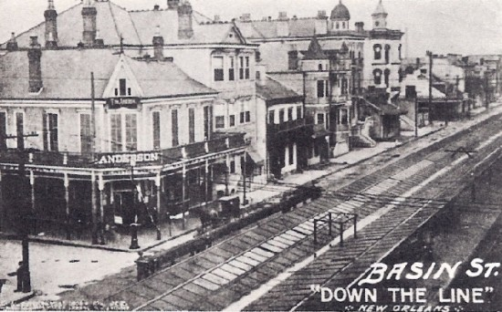 """Basin Street, progatonista de """"Basin Street Blues, probablemente la más famosa canción sobre el barrio rojo de N.O."""