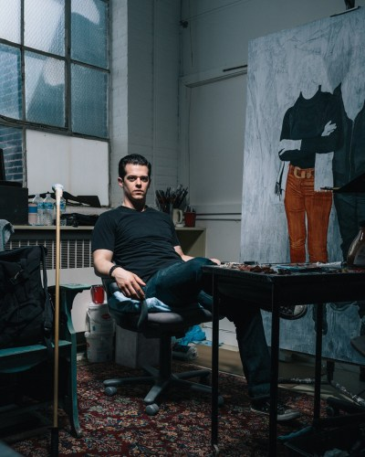 Frank Oriti in his studio. Photo by Ricky Rhodes.