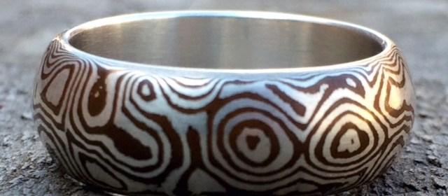 Flux Metal Arts Eris Burris Mokume Gane Ring