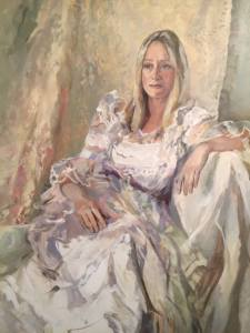 "Detail from Tricia Kaman, ""Olga."" Oil."