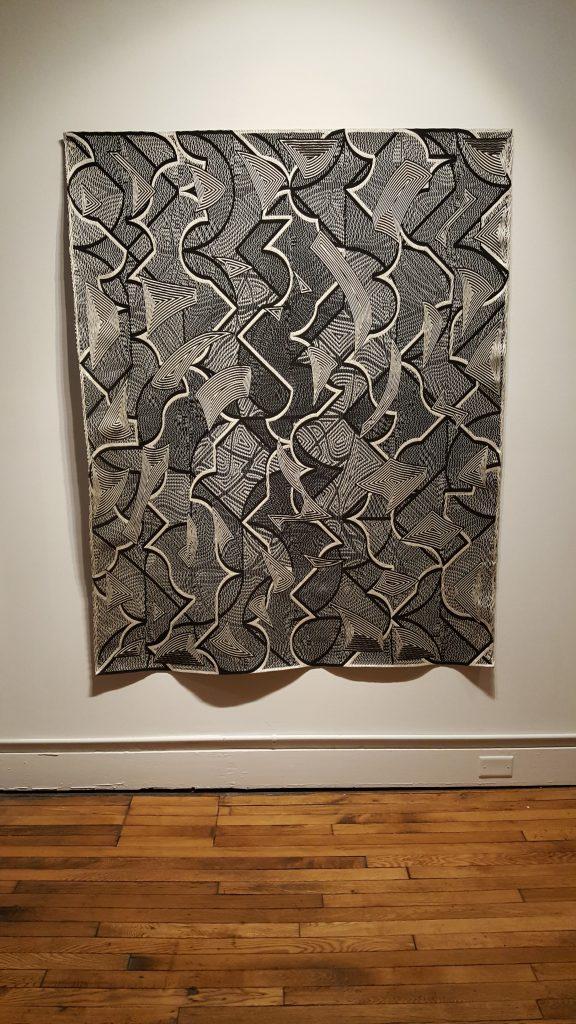 Digital Jacquard weaving by Janice Lessman Moss (installation view)