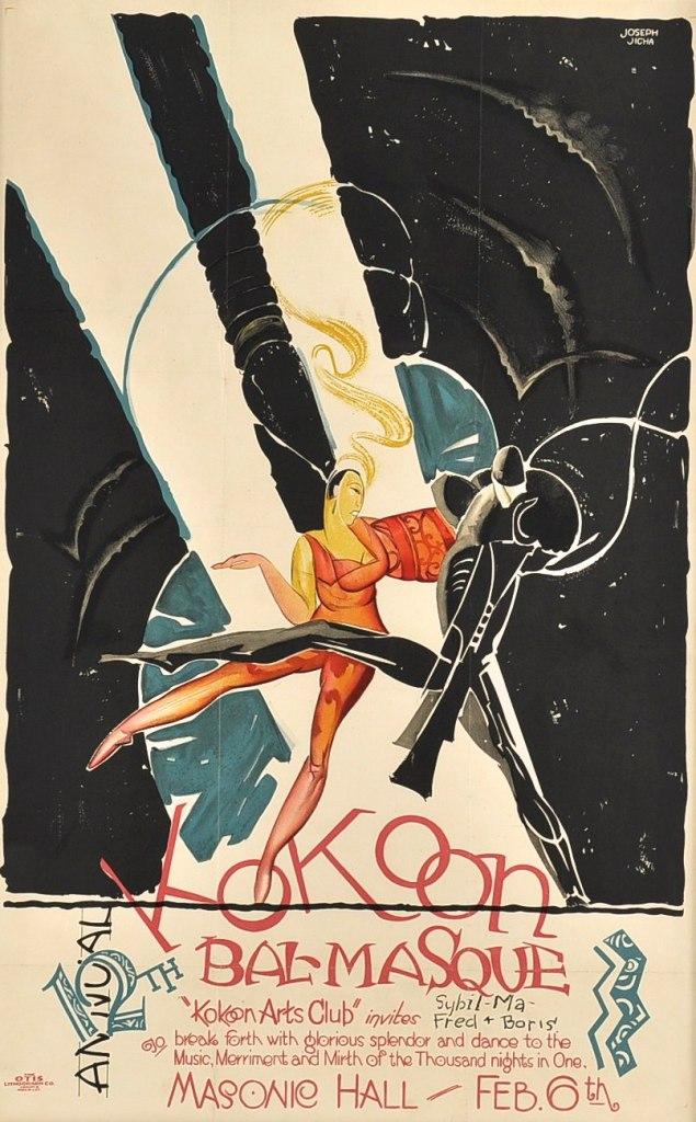 Joseph W. Jicha, Kokoon Arts Club Bal Masque Invitation , 1925