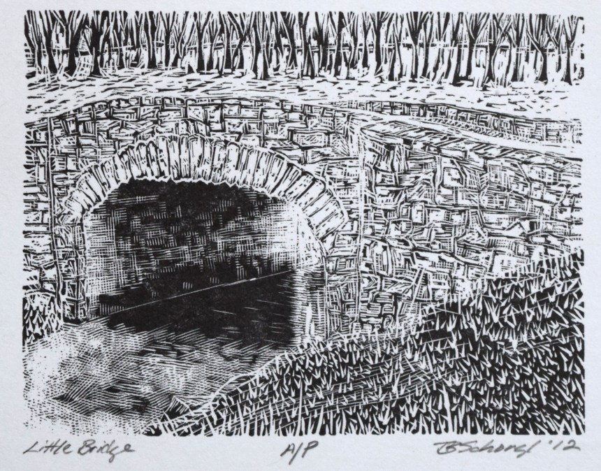 2012 wood engraving by Tom Schorgl