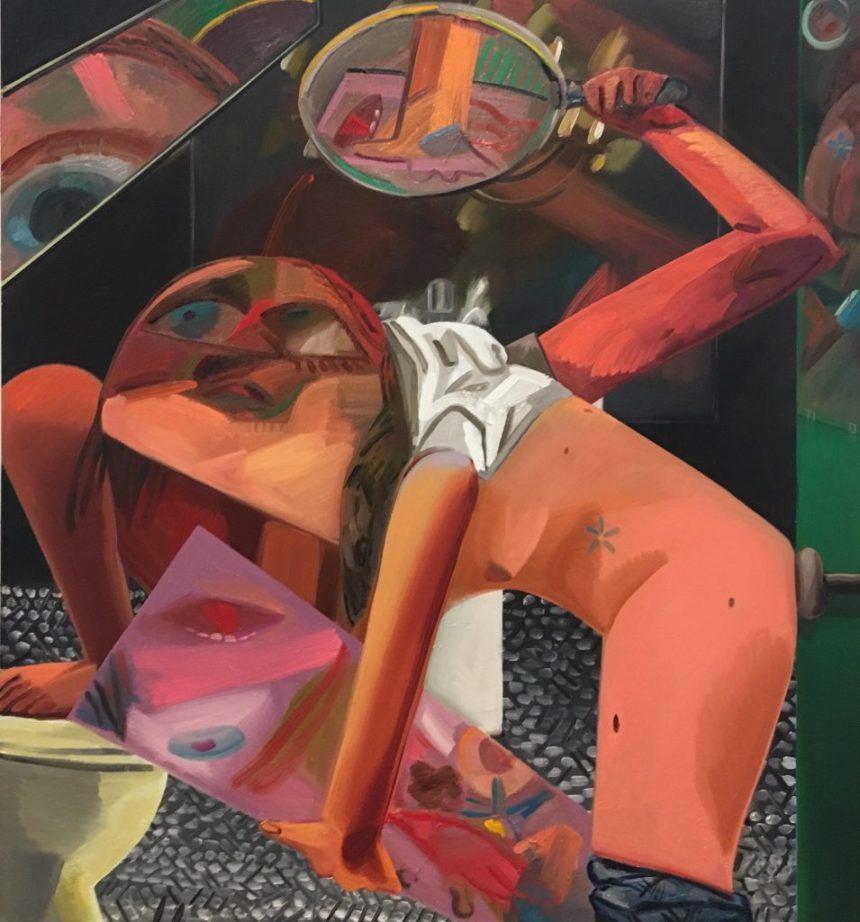 Self- Exam, 2017. Dana Schutz (American, born 1976). Oil on canvas. 91 x 84 inches. © Dana Schutz, courtesy of Petzel Gallery, New York and Contemporary Fine Arts, Berlin