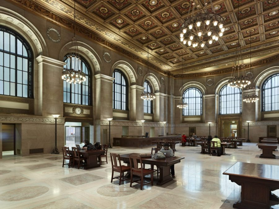 Remains Lighting New York St. Louis Public Library, Central Library | Cannondesign