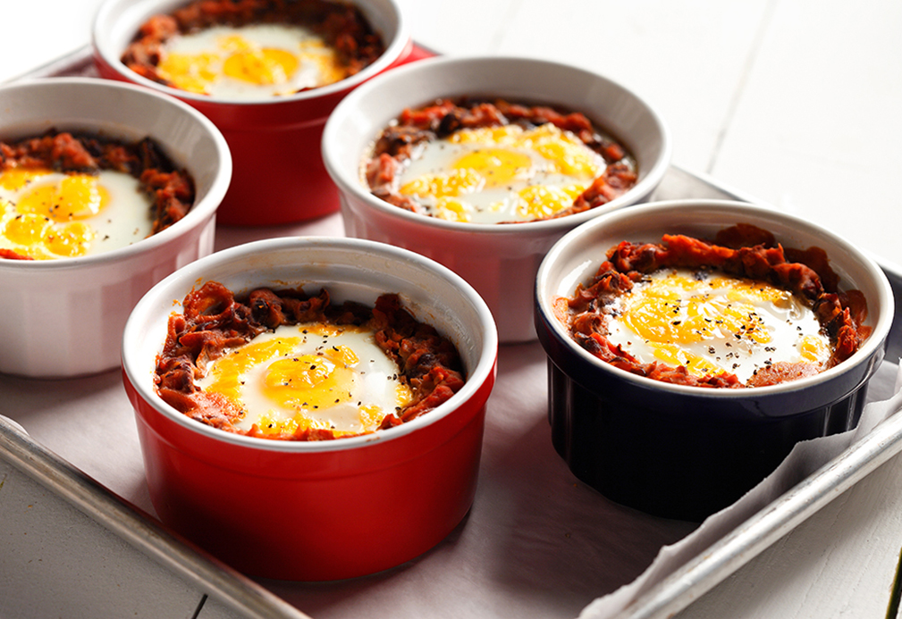 Mexican Baked Eggs on Black Beans \u2013 Eat Well