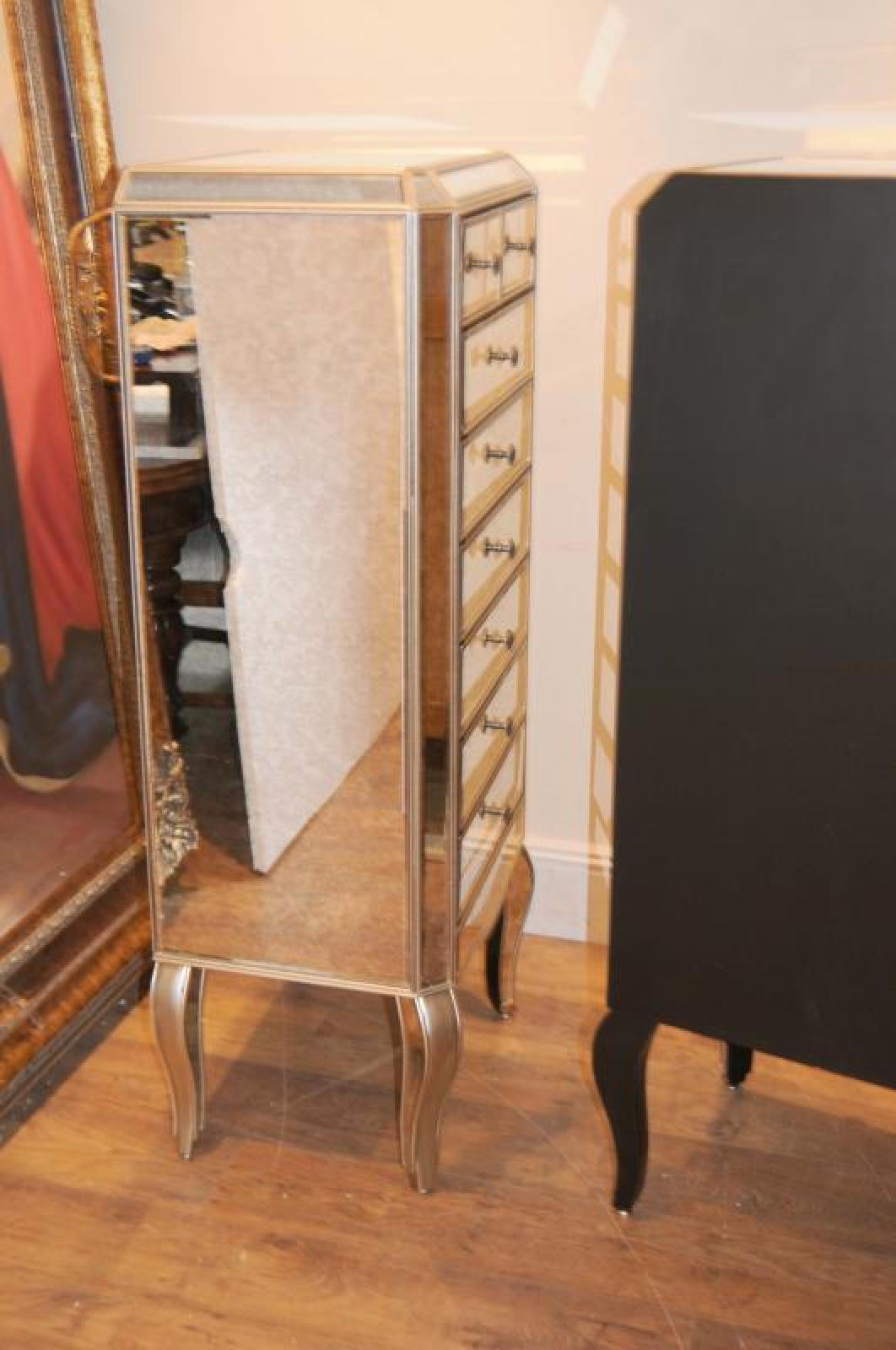 Mirrored Tall Boy Mirrored Chest Of Drawers Tall Boy Commode