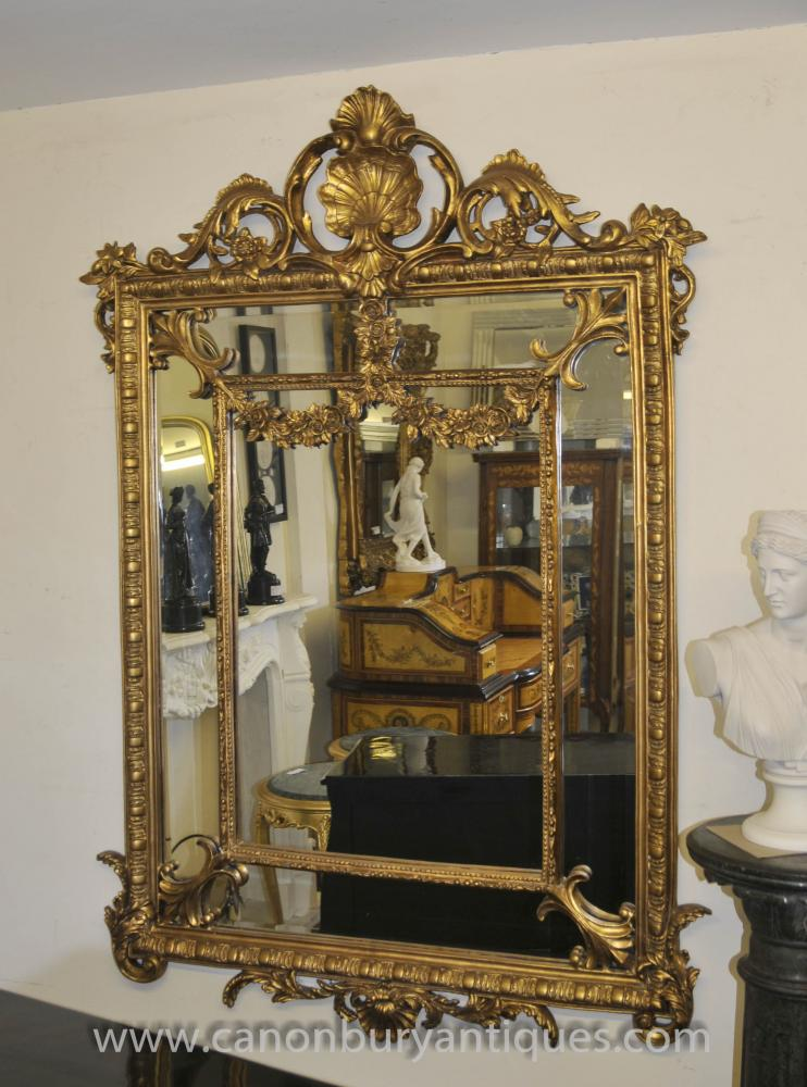 Base Cabinets French Louis Xv Rococo Mirror Gilt Mirrors