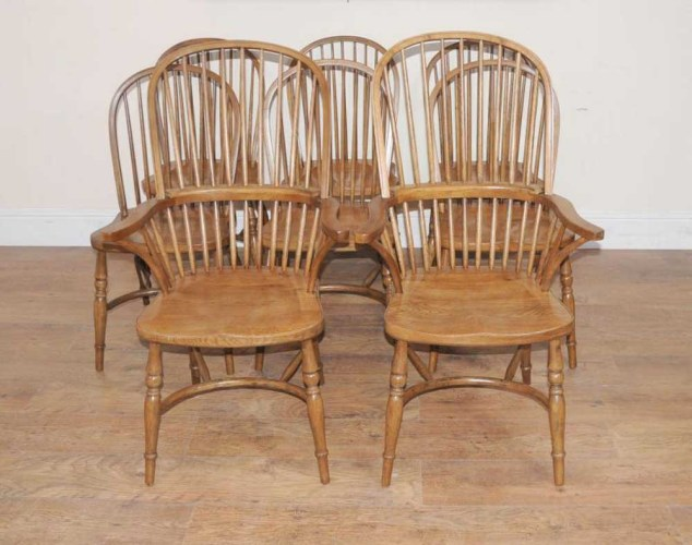 8 oak windsor kitchen dining chairs farmhouse chair 1286683978 product 1