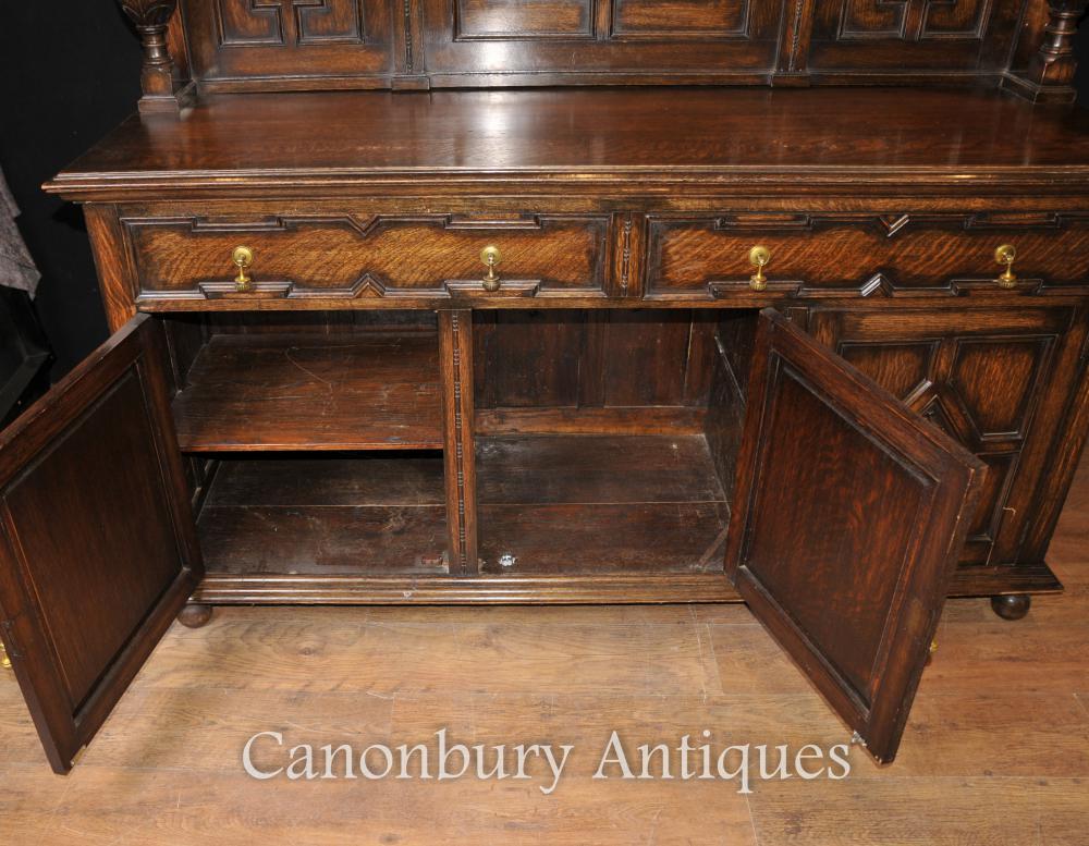antique oak jacobean sideboard server buffet kitchen furniture kitchen chairs antique kitchen tables chairs