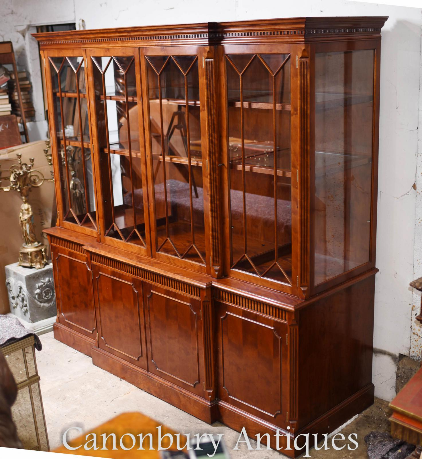 Bookcase Cabinet Details About Large Victorian Breakfront Bookcase In Mahogany Cabinet