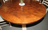 Round Farmhouse Painted Kitchen Dining Table Oak