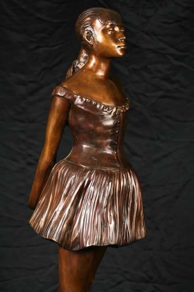 French Villa 3ft Bronze Degas Ballerina Girl Statue Figurine
