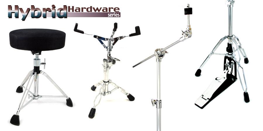 Hybrid drum hardware