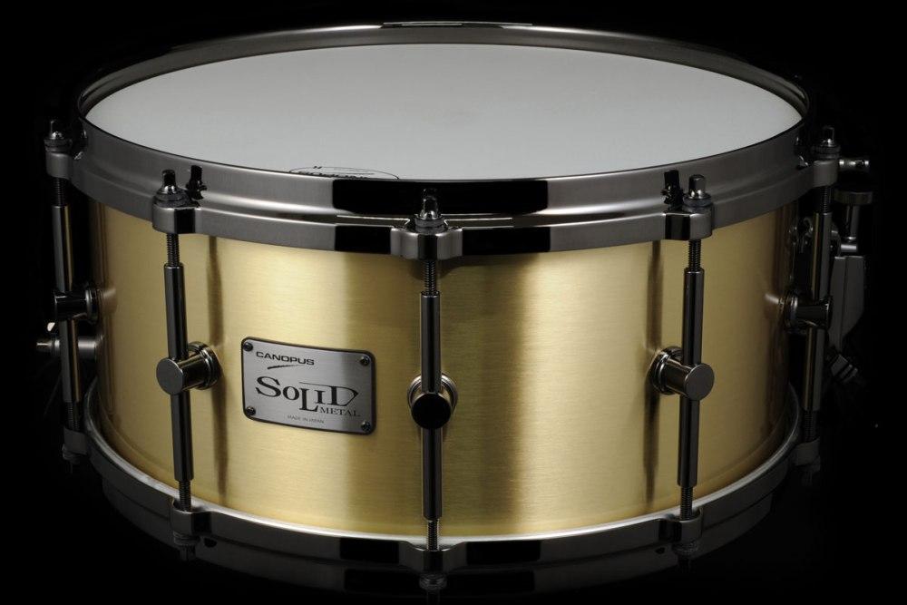ソリッドメタルシリーズ 3mm厚ブラススネアドラム SO3B-1465EX