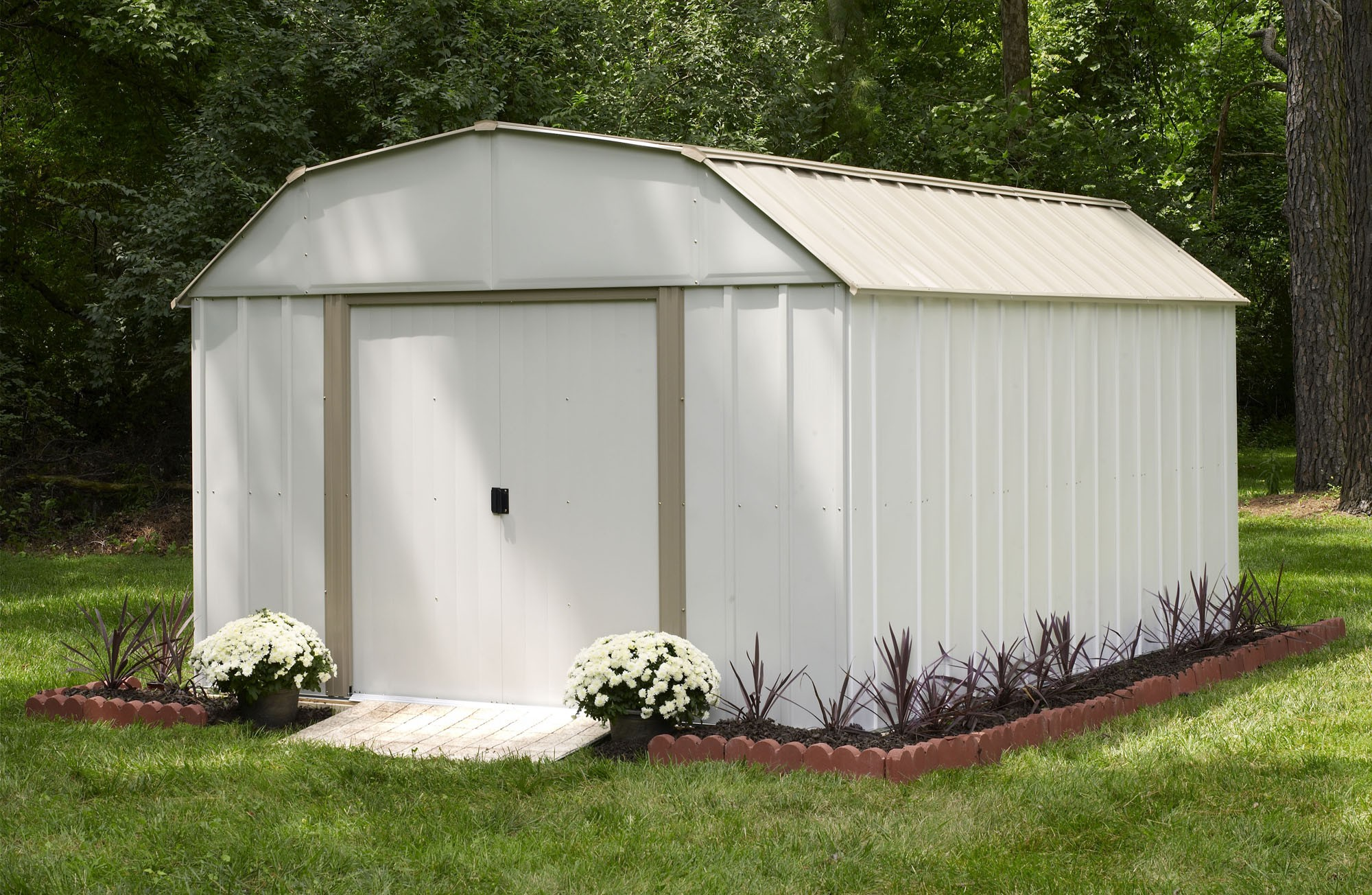 Steel Storage Sheds Lexington 10 Ft X 14 Ft Steel Storage Shed Electro Galvanized