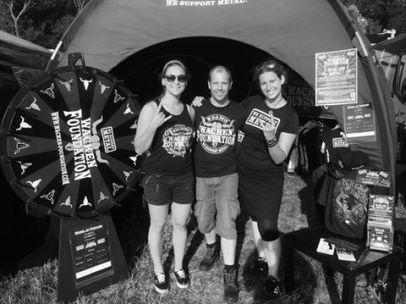 Bloodstock 2015 Wacken Foundation Team with our Merch queen Anke