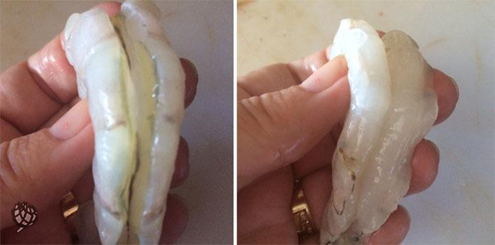 risoto de camarao limpo