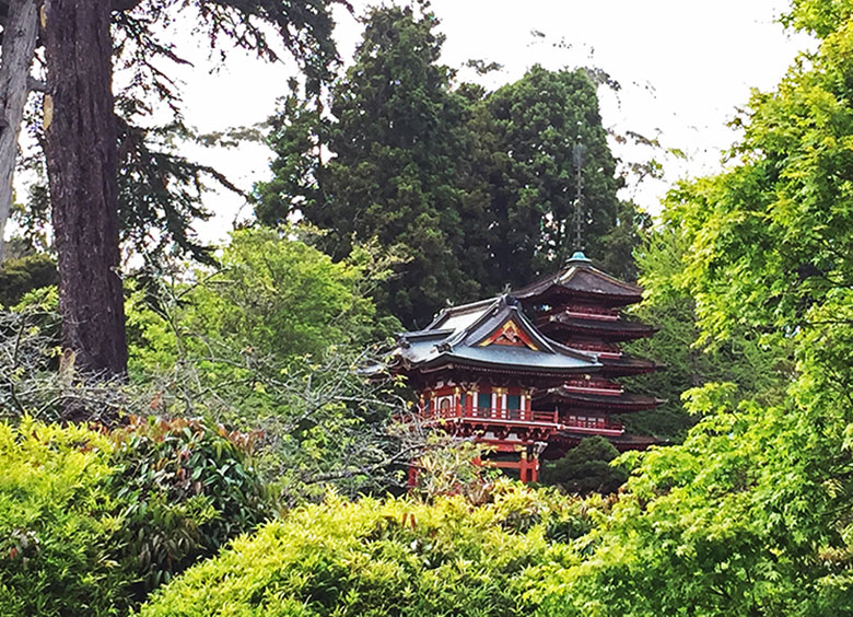 Vista do Jardim Japonês em San Francisco