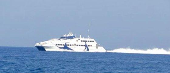 Ferry boat entre as ilhas gregas