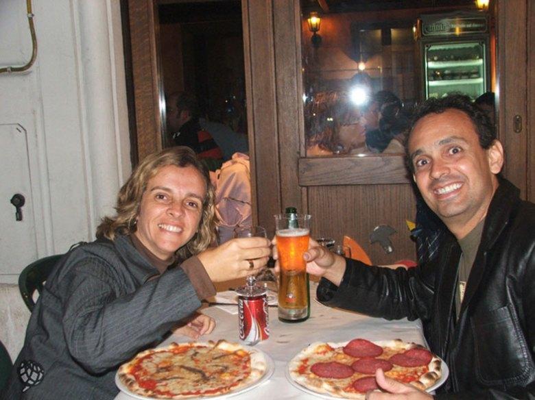 Pizza em Roma