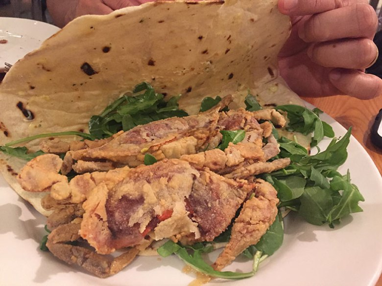 Piadina di Granchio no Eataly New York