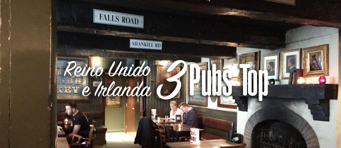 Pubs na Irlanda e Reino Unido