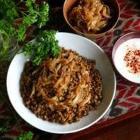 Majadra...an exquisite combination of lentils and bulgur