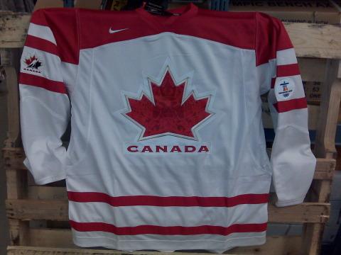2010 Team Canada white jersey
