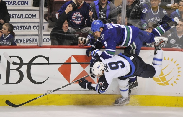 The Canucks are back at Rogers Arena to play their Western Conference opponents the Winnipeg Jets.  (photo credit: windsorstar.com)