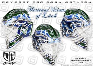 Eddie Lack's new Vancouver Canucks mask.