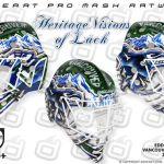 Eddie Lack's new Vancouver Canucks mask.