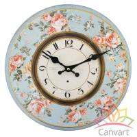 Large Shabby Chic Wooden Wall Clock Kitchen Home Office ...