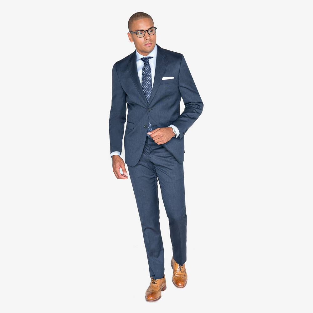 Jeans Anzüge Scott Dark Denim Blue Anzug Suitopia