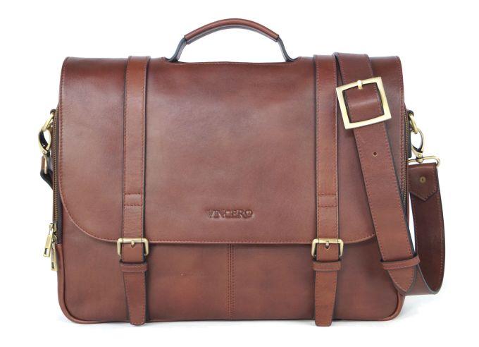 Vincero The Baron leather briefcase