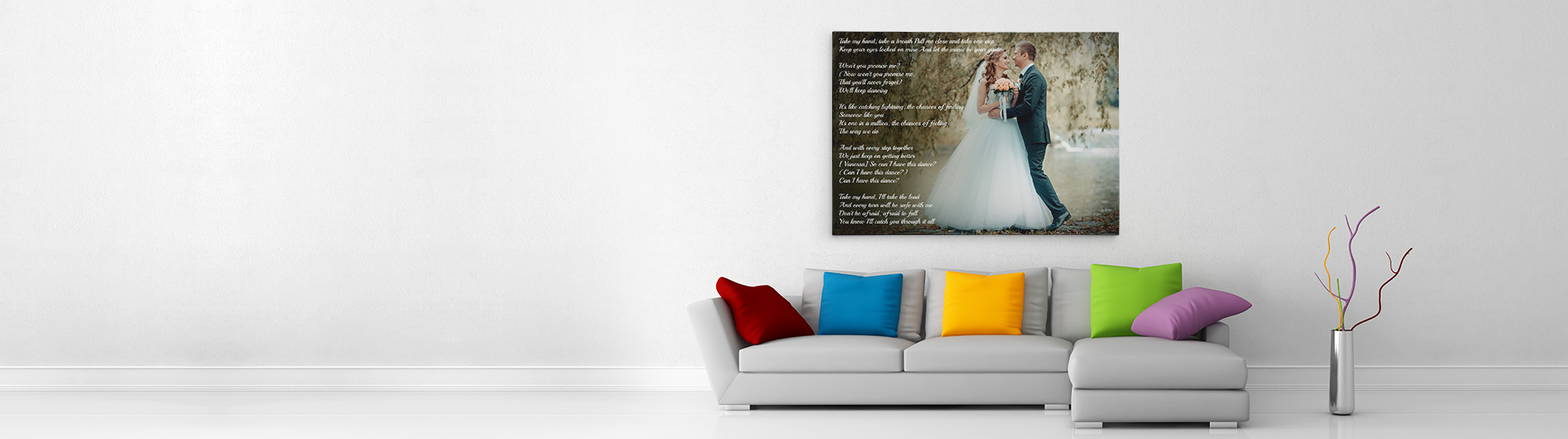 Sofa Easy Lyrics Personalised Song Lyrics On Canvas Canvas With Song Lyrics Picture