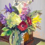"""""""Floral Gift,"""" 20 x 16 inches, oil. Artwork by Tricia Kaman."""