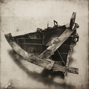 """Archive,"" photo etching, 2011, 6 inches by 6 inches"
