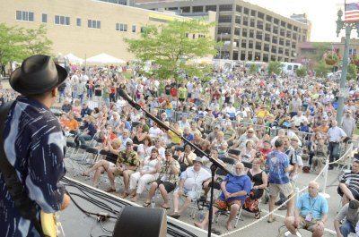 Sizeable crowds gather in downtown Canton each year for the Canton Blues Fest. Photo submitted by Canton Blues Fest