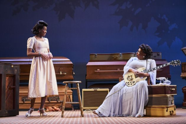 Chaz Hodges, from left, as Marie and Miche Braden as Sister Rosetta. Photo / Roger Mastroianni