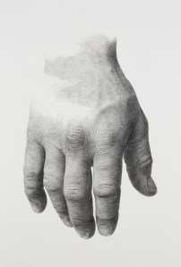 """Trust"" by Matthew Sweeney (2017), 30 x 44 inches, graphite on paper."
