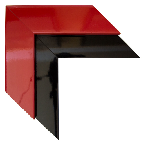 Red Black Open Canvas Frame 3 3/4 Inch Custom Size Available